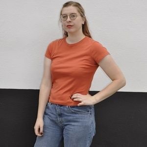 Style and Co cotton orange tee shirt